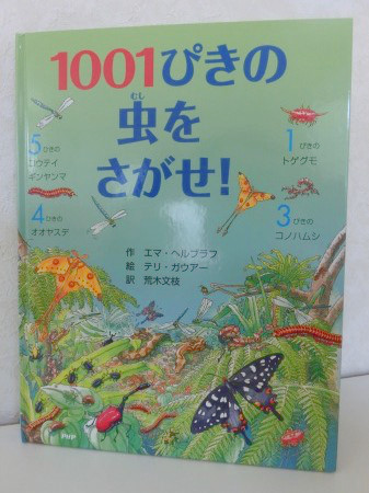 虫好きの男の子には、たまらない絵本!「1001ぴきの虫をさがせ!」 作:エマ・ヘルブラフ 絵:テリ・ガウアー