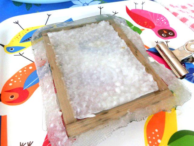 牛乳パックで手作り紙 8